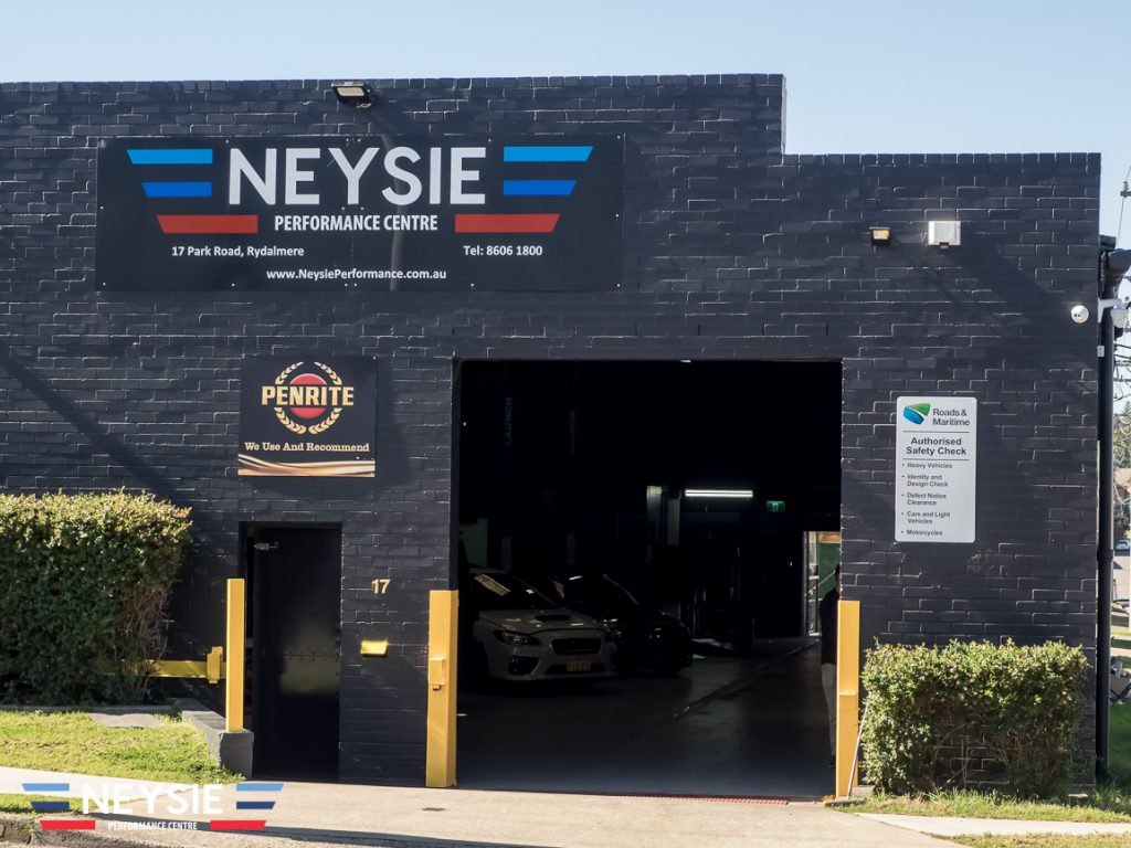 Neysie performance centre mechanic workshop.