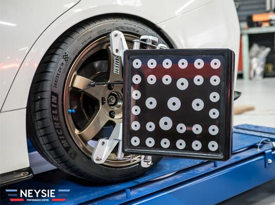 Wheel alignment tools.