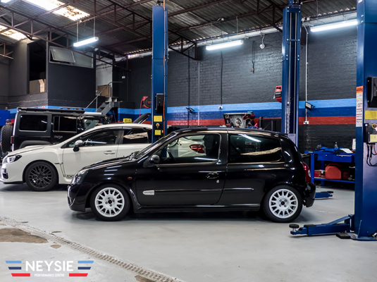 Completed tyre service on alloy wheels.